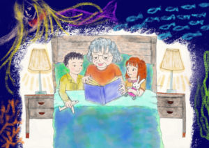 illustration Reading in Bed